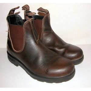 BLUNDSTONE 500 brown leather boots